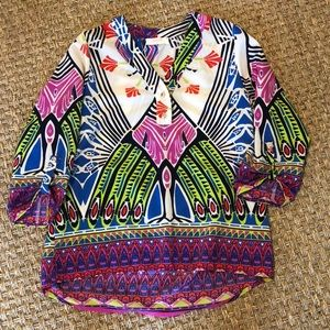 Peach Love California Colorful Blouse